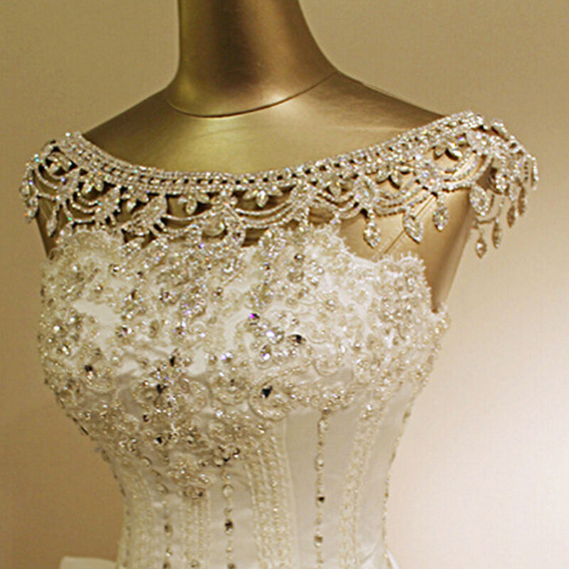 Crystal Wedding Bridal Rhinestone Shoulder Body Chain ...