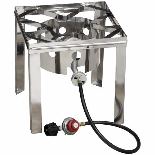 Gas stove propane burner stainless steel fryer stand for Fish cooker burner