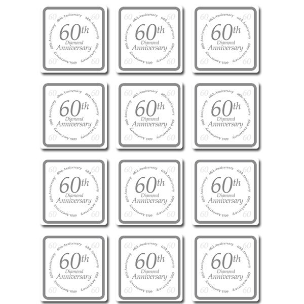 60 Wedding Anniversary Party Ideas: 60th ANNIVERSARY COASTERS TABLE DECORATION Party Supplies