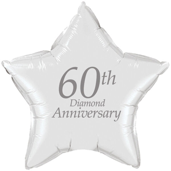 60th Wedding Anniversary Party Ideas: 60th ANNIVERSARY PRINTED MYLAR BALLOON Party Supplies FREE