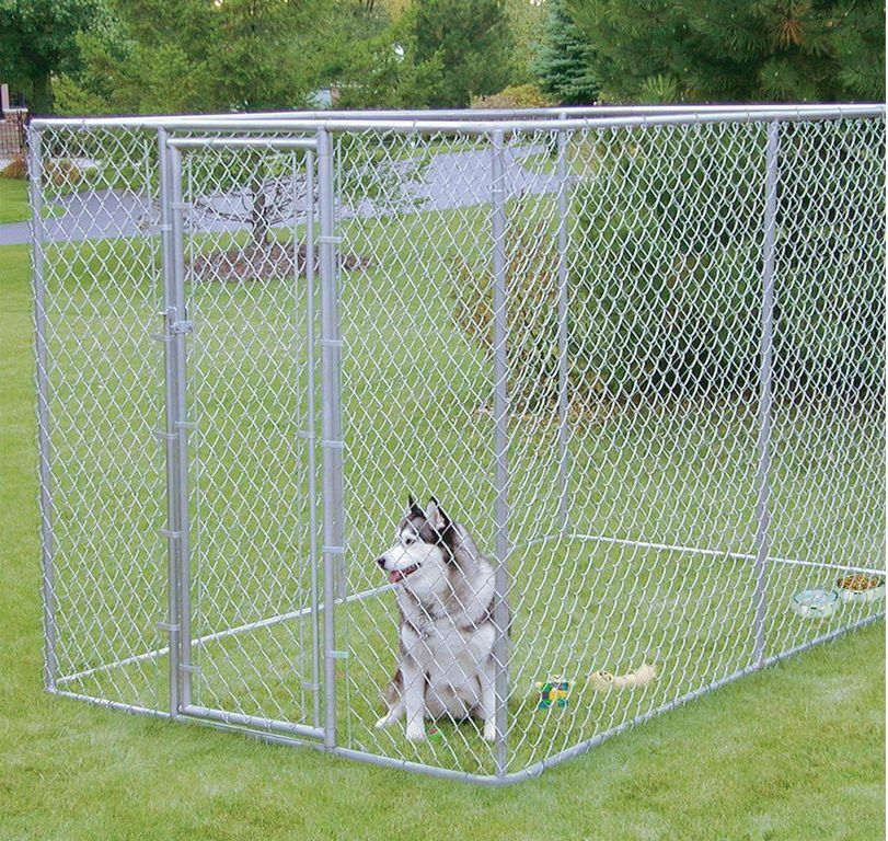LARGE CHAIN LINK 6'x10'x6' DOG KENNEL PET PEN FENCE RUN