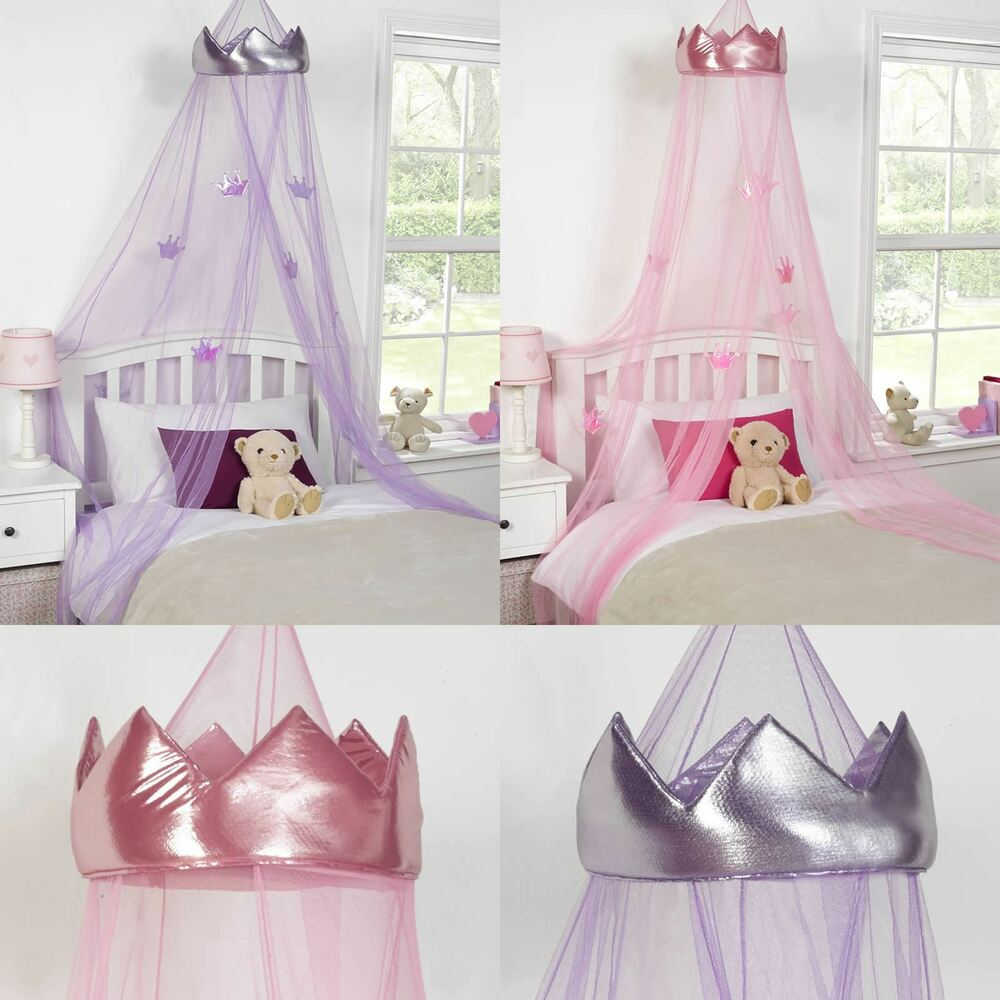 princess crown bed canopy kids childrens girls insect. Black Bedroom Furniture Sets. Home Design Ideas
