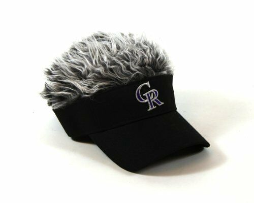 mlb colorado rockies logo flair hair visor cap