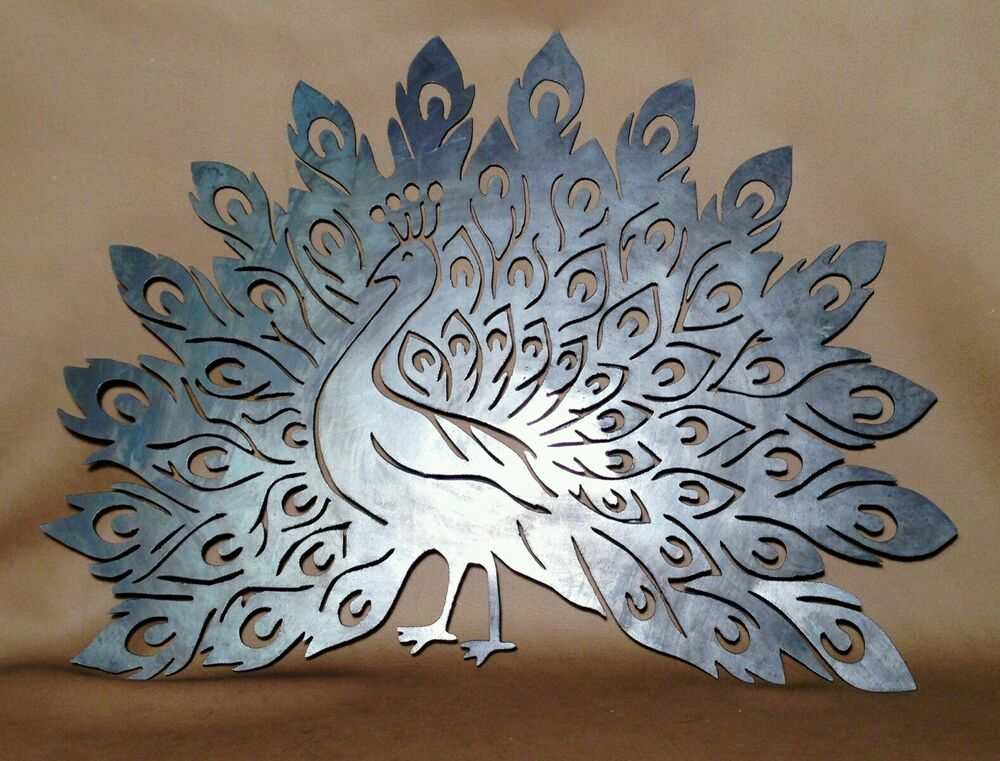 Highly detailed peacock plasma cut metal wall art hanging for Home decorations on ebay