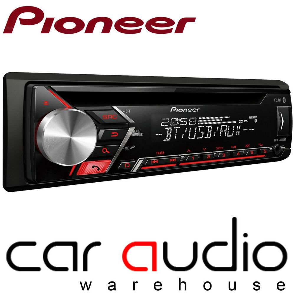 pioneer deh 3900bt bluetooth usb cd mp3 aux car stereo. Black Bedroom Furniture Sets. Home Design Ideas