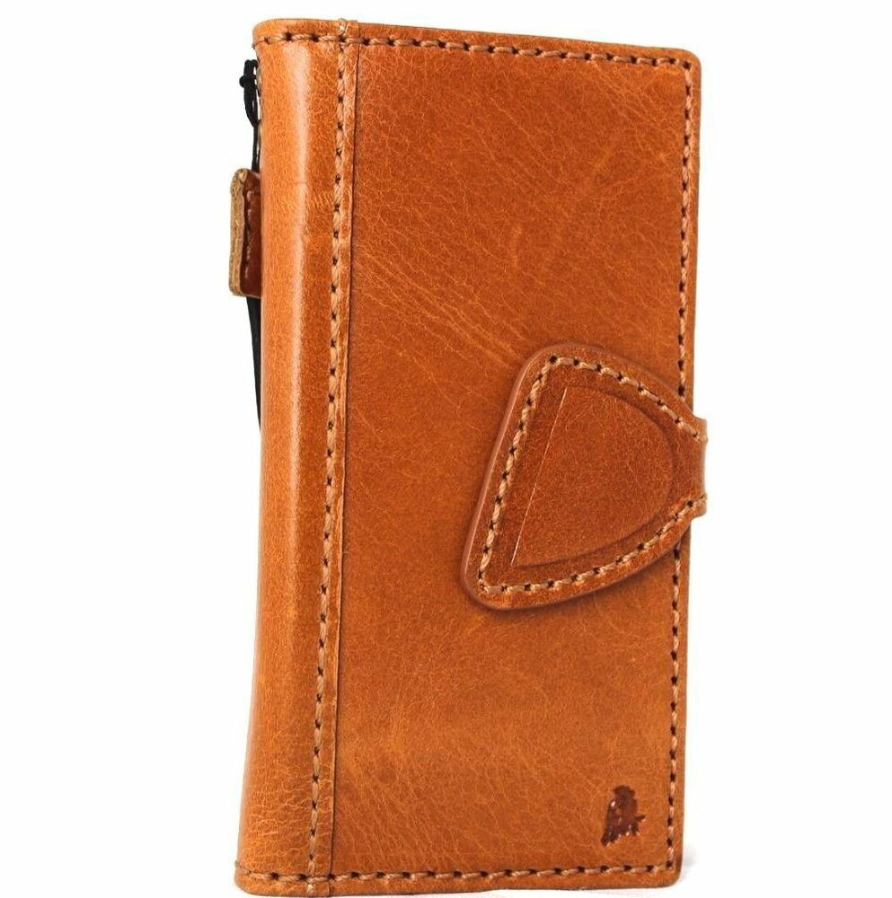 Genuine real leather case for iphone se 5c 5s 5 cover book wallet credit card id ebay - Iphone 5s leather case ...