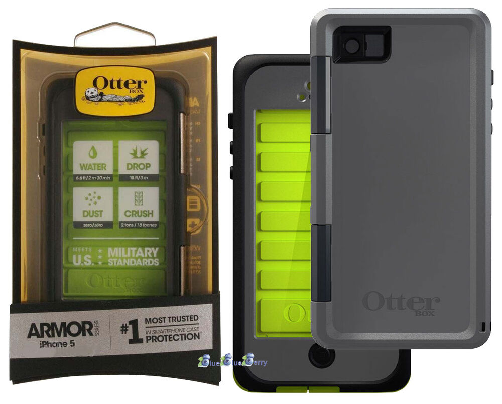 new otterbox armor series waterproof phone case for apple iphone 5 5s neon green ebay. Black Bedroom Furniture Sets. Home Design Ideas