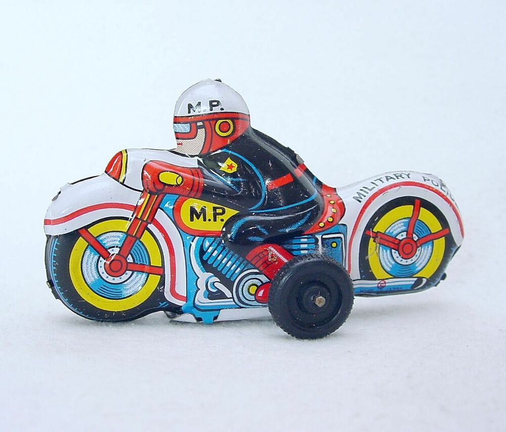Modern Toys Japan MP MILITARY POLICE MOTORCYCLE 9cm Tin Friction Toy NM`68 RARE! | eBay