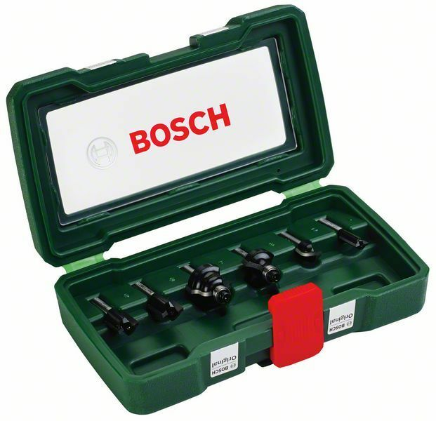 bosch 2607019462 1 4in 6 piece tc router set ebay. Black Bedroom Furniture Sets. Home Design Ideas