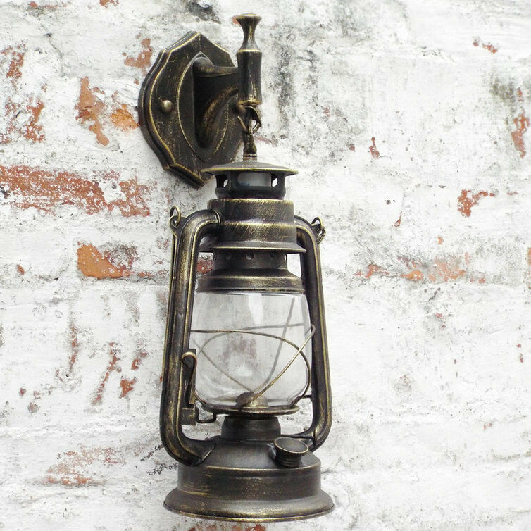 wall light antique vintage style thrift retro lantern wall lamp lights nostalgia ebay. Black Bedroom Furniture Sets. Home Design Ideas