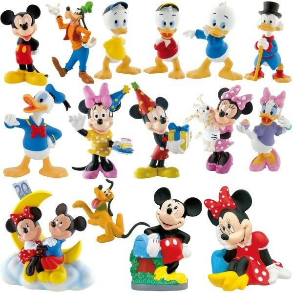 micky maus minnie maus tortenfigur spielfigur bullyland. Black Bedroom Furniture Sets. Home Design Ideas