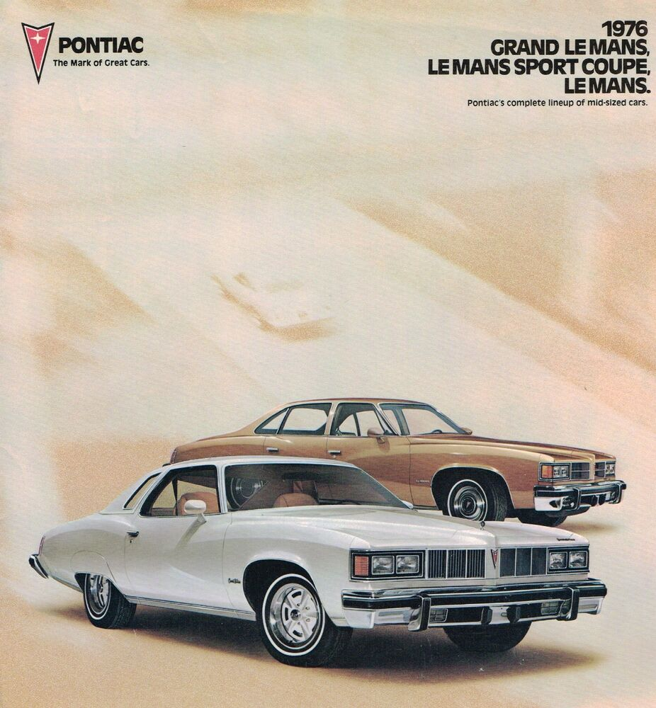 1976 pontiac lemans brochure bonus grand le mans sport coupe ebay. Black Bedroom Furniture Sets. Home Design Ideas