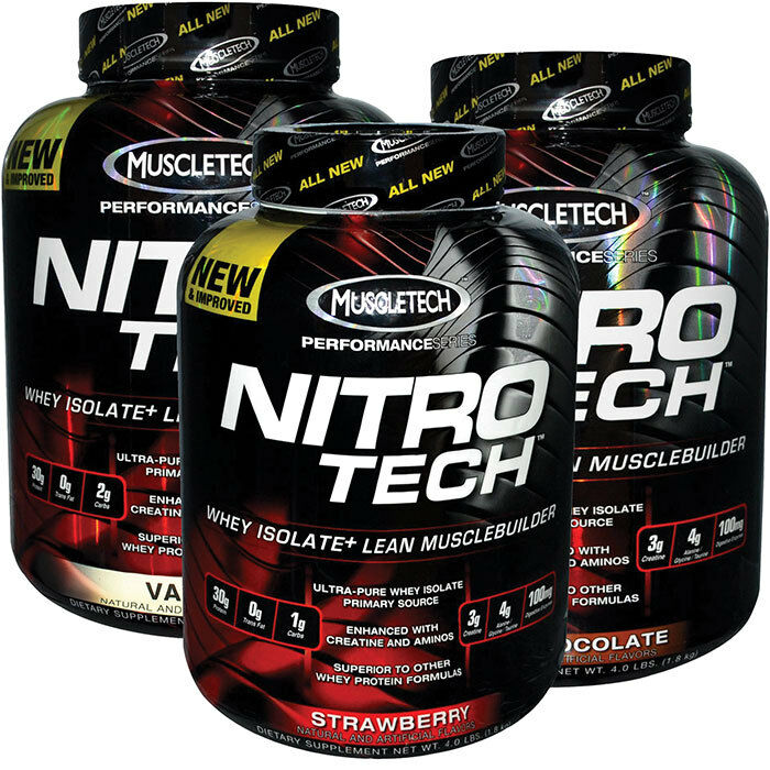 muscletech nitro tech performance 4lbs all flavors free priority shipping ebay. Black Bedroom Furniture Sets. Home Design Ideas