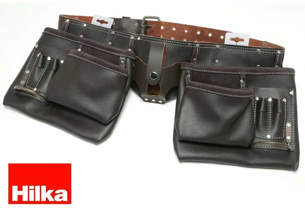 hilka heavy duty tanned leather tool belt