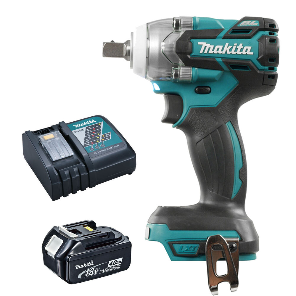 makita 18v lxt dtw281 dtw281z impact wrench bl1840 battery and dc18rc charger 604310258726 ebay. Black Bedroom Furniture Sets. Home Design Ideas