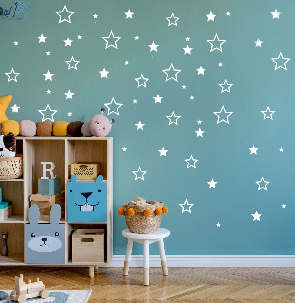 116 stars removable wall stickers for nursery or kids room stars wall sticker diy baby nursery wall decals removable