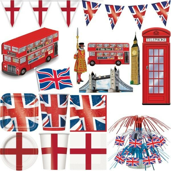 England party dekoration mottoparty gro britannien deko for Mottoparty deko