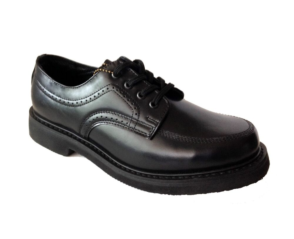 Rubicon Men's Lace Up Black Leather Dress Casual Shoes ...