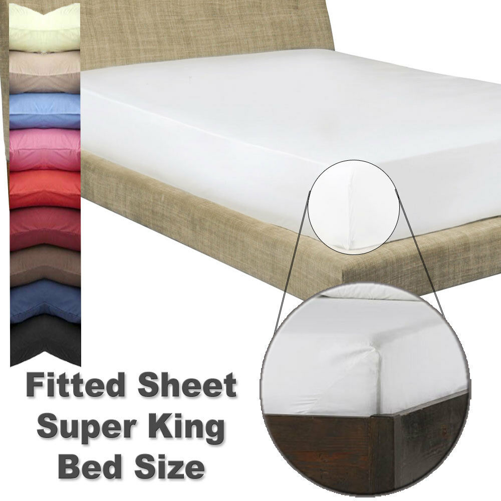 super king size fitted sheet with free matching. Black Bedroom Furniture Sets. Home Design Ideas