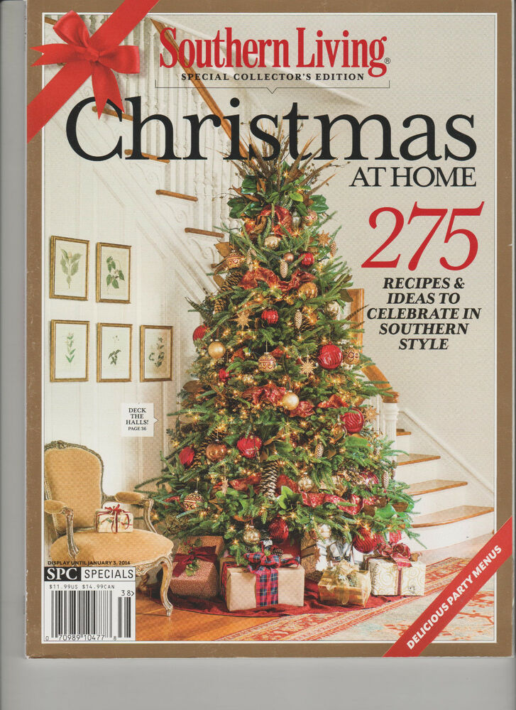 southern living special collectors edition christmas at home magazine 2014 ebay. Black Bedroom Furniture Sets. Home Design Ideas