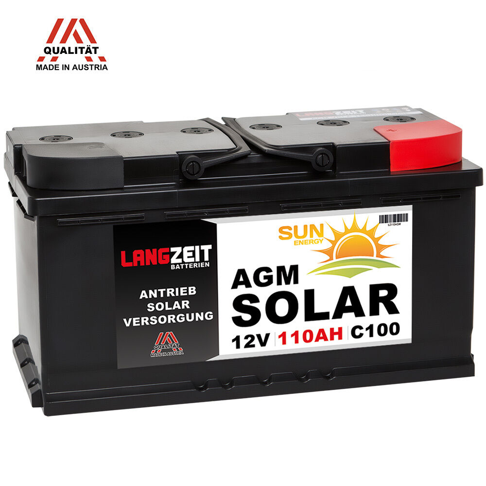 solarbatterie 12v 110ah agm gel batterie solar versorgungsbatterie boot 100ah ebay. Black Bedroom Furniture Sets. Home Design Ideas
