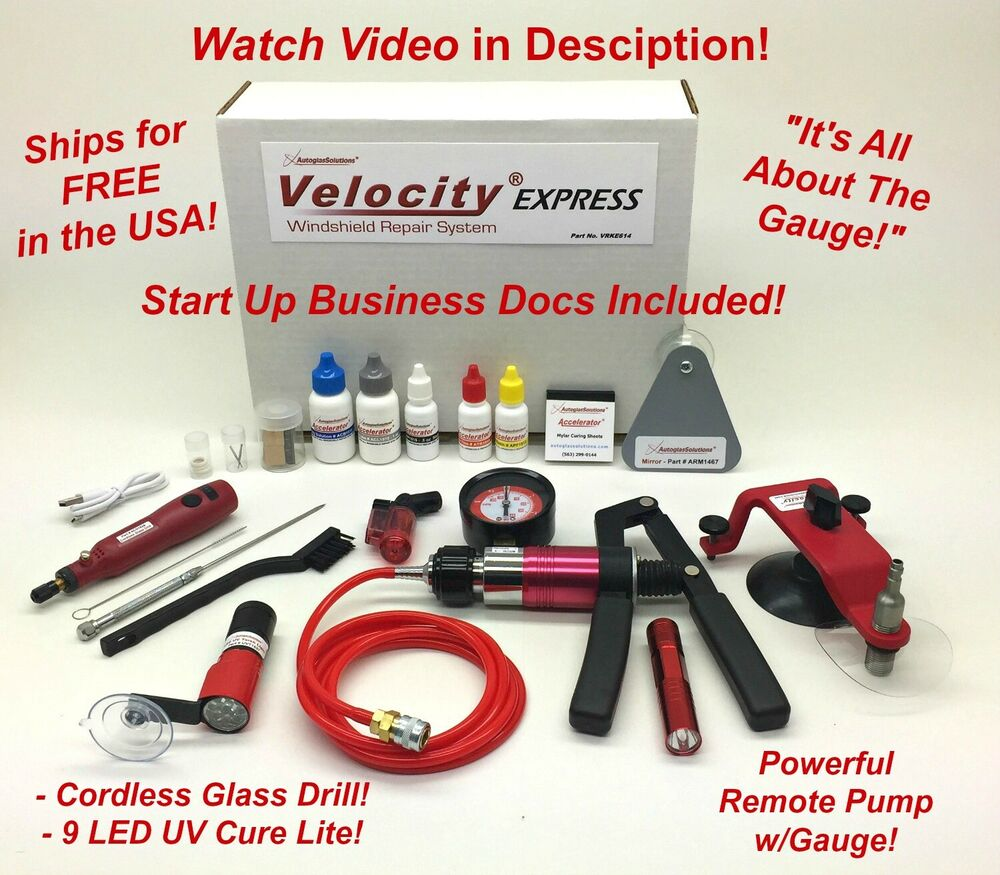 Rock Chip Repair >> Velocity EXPRESS Auto Glass Windshield Windscreen Rock ...