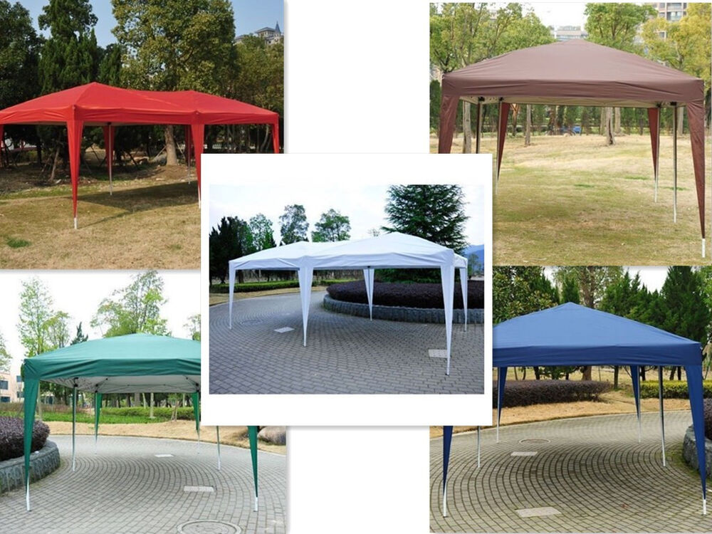 New 10 X 20 Outdoor Easy Pop Up Canopy Gazebo Cover
