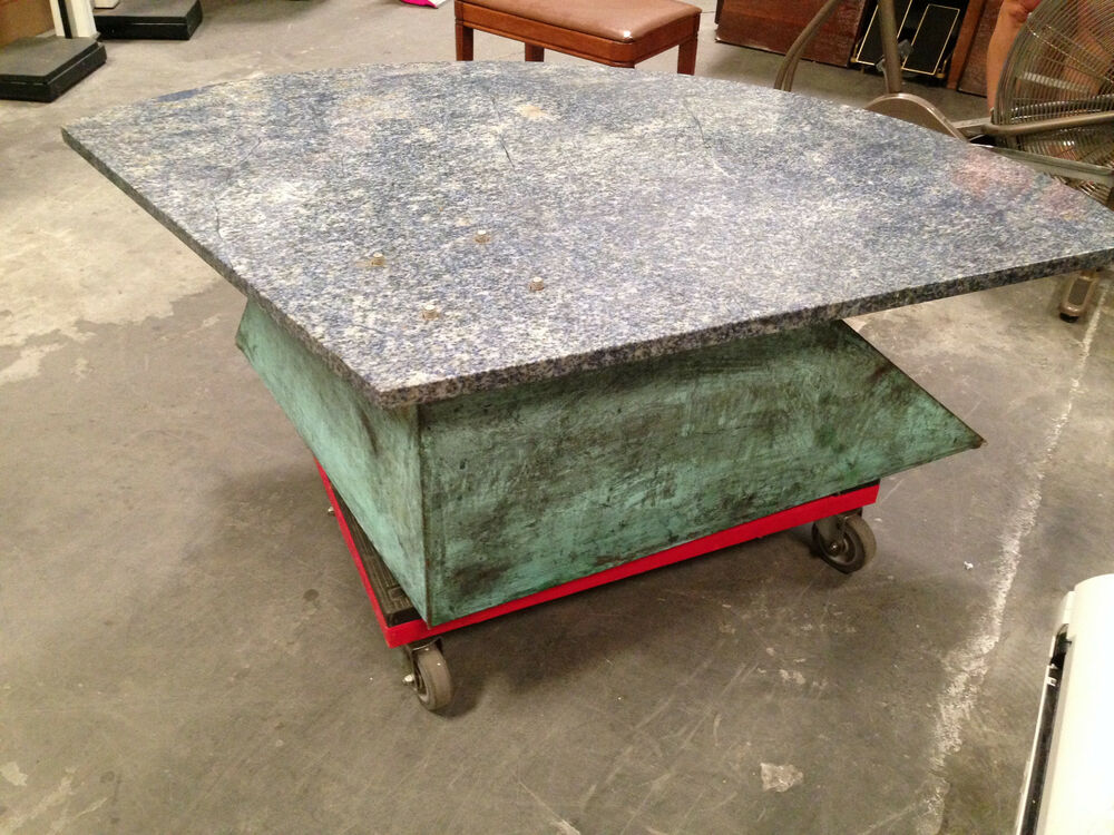 Unique Handcrafted Coffee Table W Granite Top Ebay