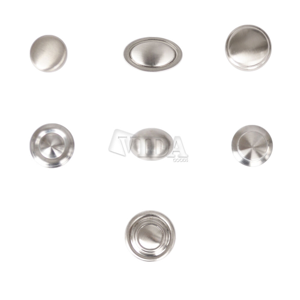 Satin nickel brushed nickel kitchen cabinet drawer knobs for Kitchen cabinets knobs