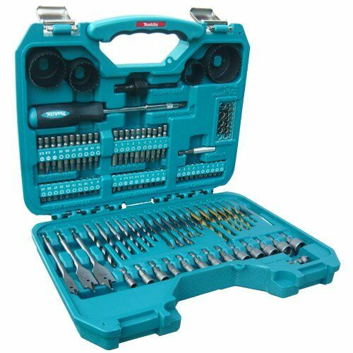 makita 101 piece drill bit screw driver set kit in carry case for 8391 drill. Black Bedroom Furniture Sets. Home Design Ideas