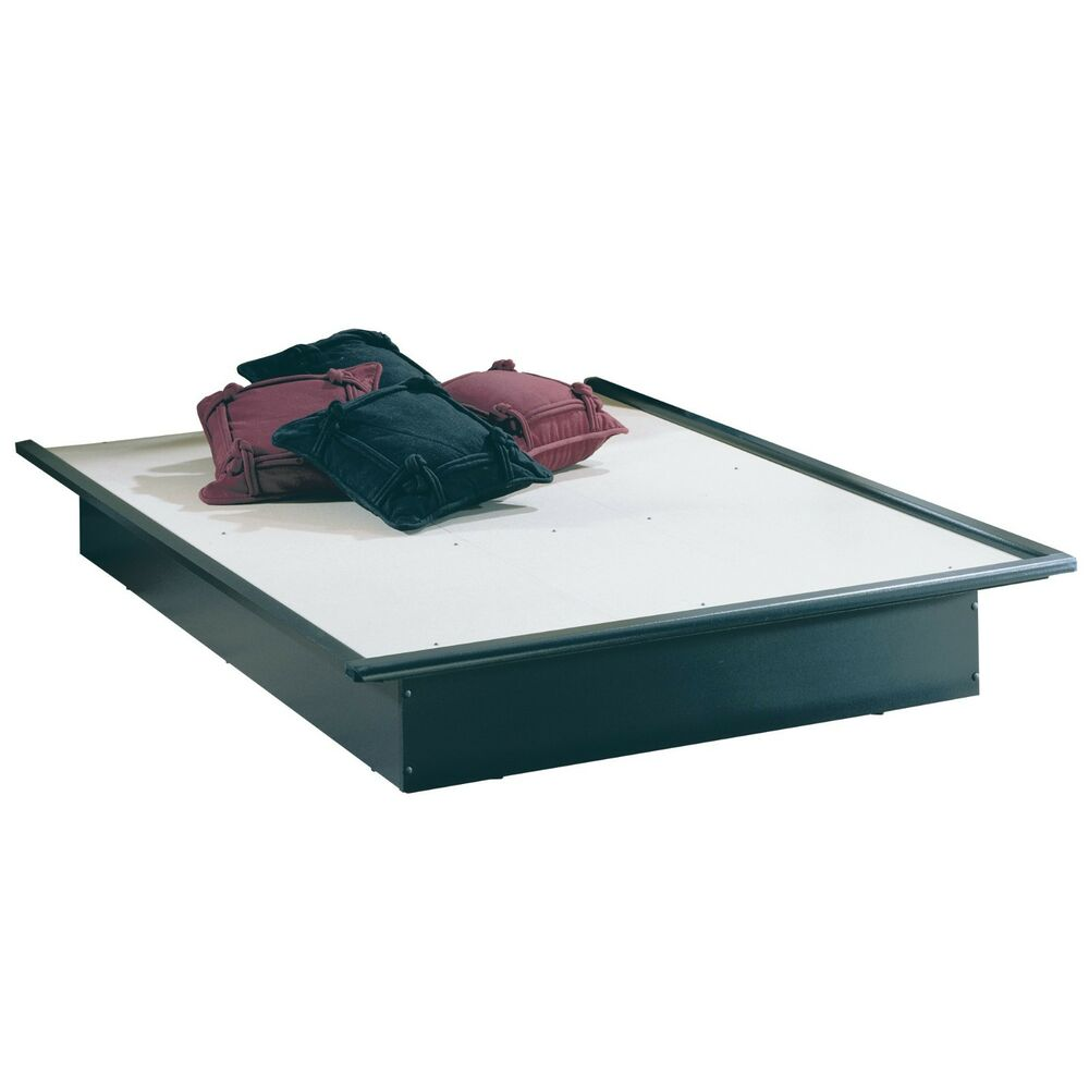 Bed frame platform full queen king size sizes black color for King size bed frame and mattress