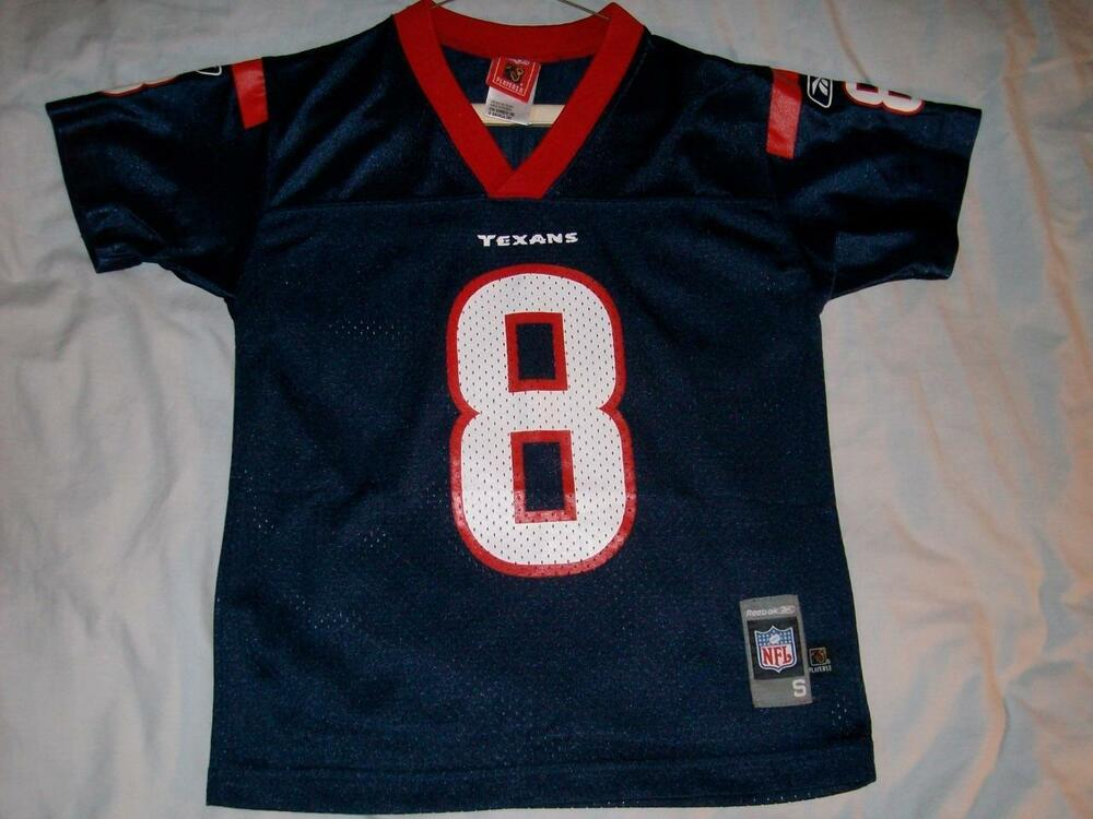 reputable site 43e95 28df3 David Carr 8 Houston Texans Blue Jersey NFL Players Inc. Boys Small size 8  used   eBay
