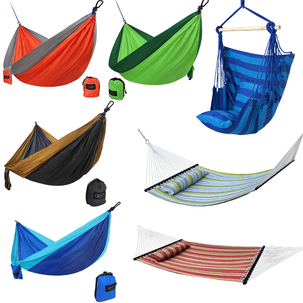 Double Hammock Hanging Rope Chair Lounger Porch Swing Seat