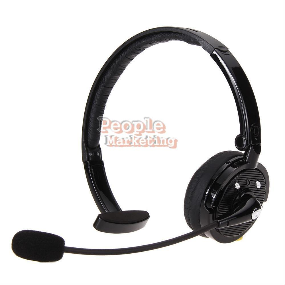 wireless bluetooth noise canceling headset with flexible boom mic for drivers p ebay. Black Bedroom Furniture Sets. Home Design Ideas