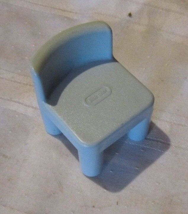 Toy Little Tikes Dollhouse Doll Blue Kitchen Chair