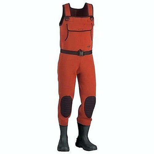 Lady hodgman lakestream neoprene chest fishing waders with for Fishing waders with boots