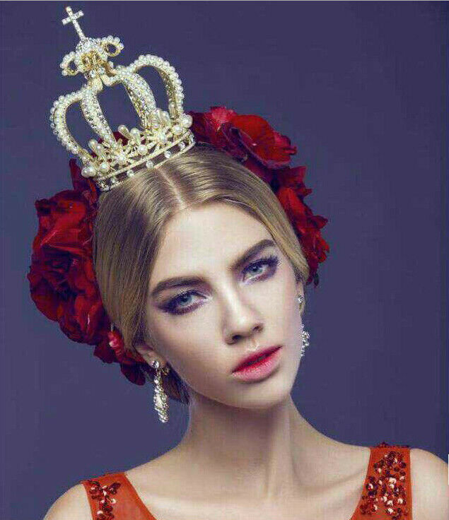 Hairstyles With Crown Queen: 15cm High Crystal Wedding Bridal Party Pageant Prom Tiara