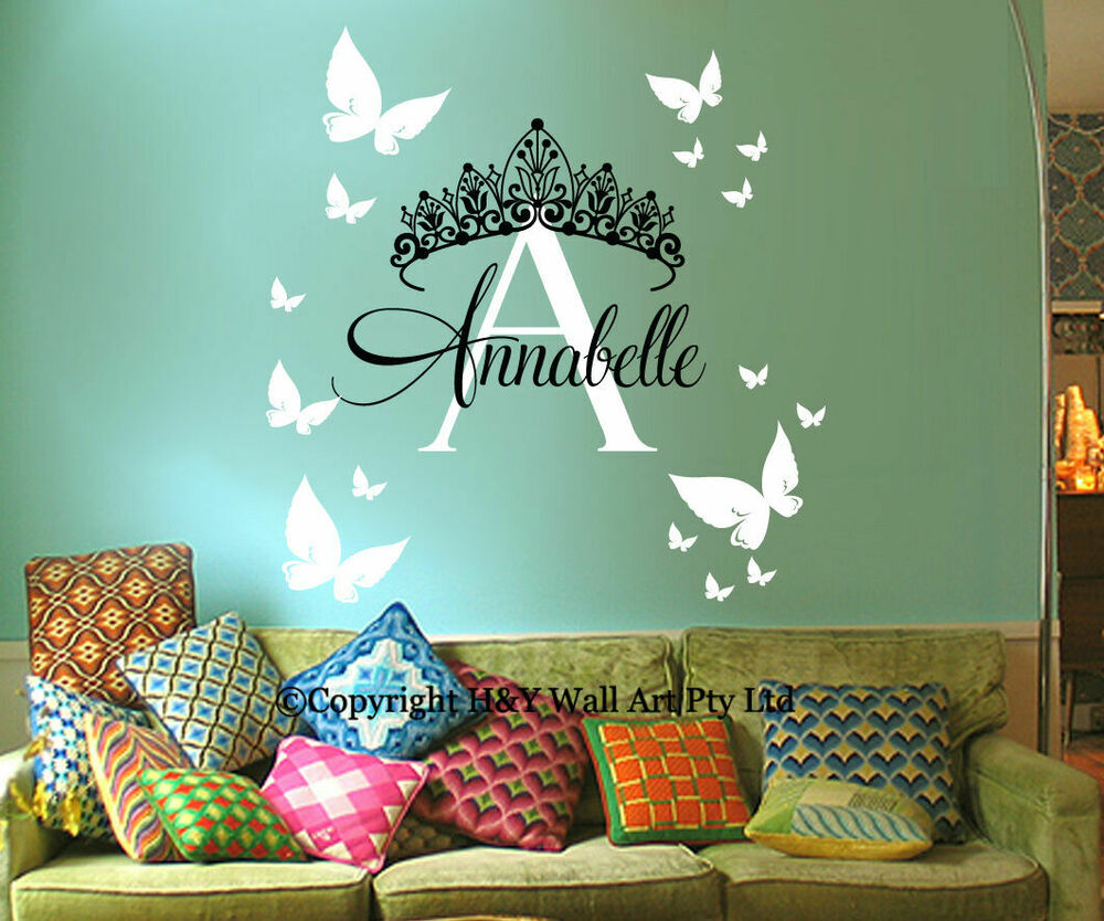 Name Wall Decals For Nursery Tags: Custom Personalised Name Wall Stickers Decal Nursery Decor