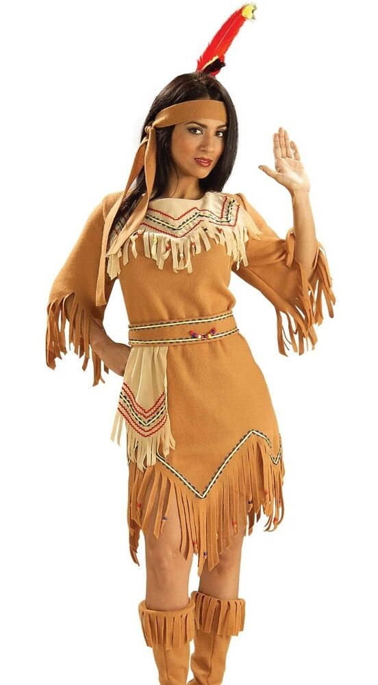 Version has native american adult costume think