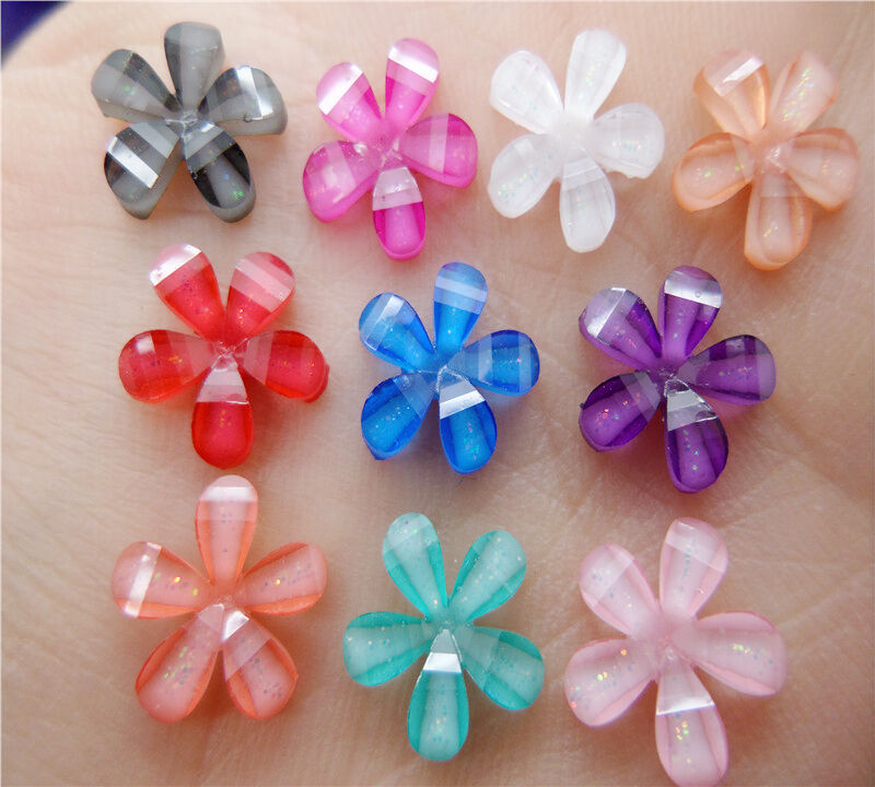 Diy 50pcs 10mm resin flowers flatback scrapbooking for for Crafts that sell on ebay
