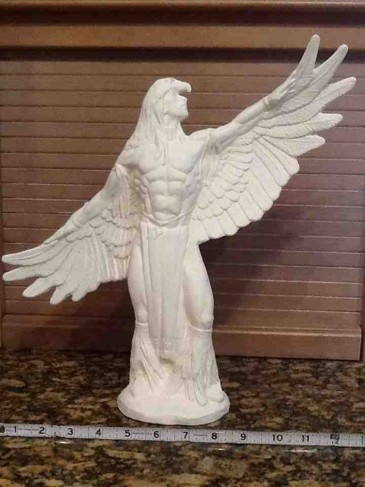 Ready to paint ceramic bisque eagle dancer visit our for Ceramic house paint