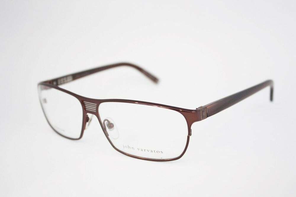Eyeglasses Frame Japan : JOHN VARVATOS V121 TITANIUM eyeglasses Frame Chocolate ...