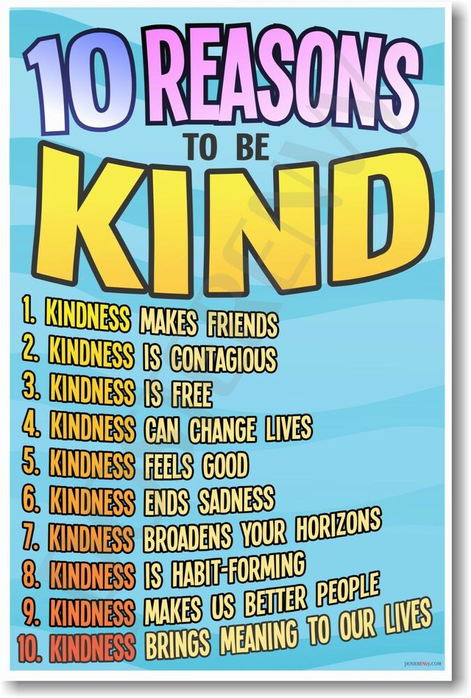 10 Reasons To Be Kind - NEW Classroom Motivational ...