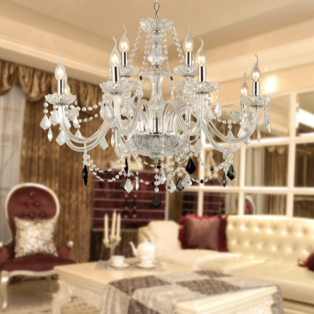 12 light venetian murano style crystal chandelier kitchen foyer dining room ebay - Crystal chandelier for dining room ...