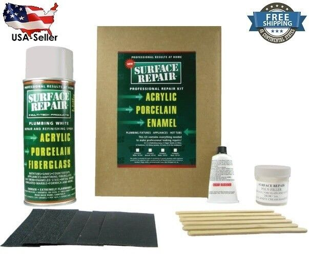 Procaliber Acrylic Basin And Tub Repair Kit White Ebay