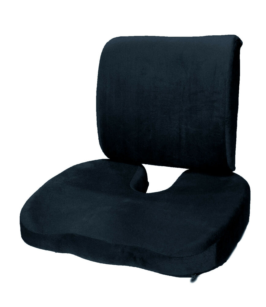 memory foam coccyx orthoped seat cushion back support. Black Bedroom Furniture Sets. Home Design Ideas