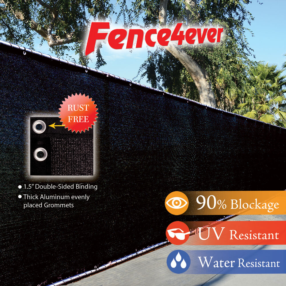 Black 4 5 6 8 Tall Fence Windscreen Privacy Screen