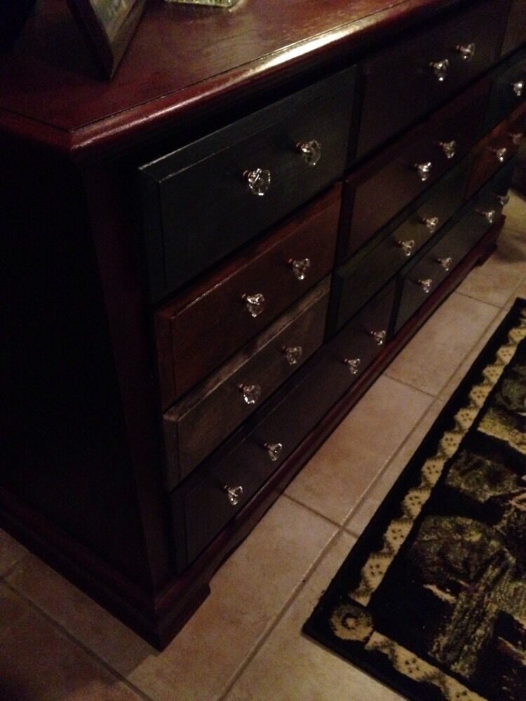 Painted Wood Dresser Multiple Colors 8 Drawer Great