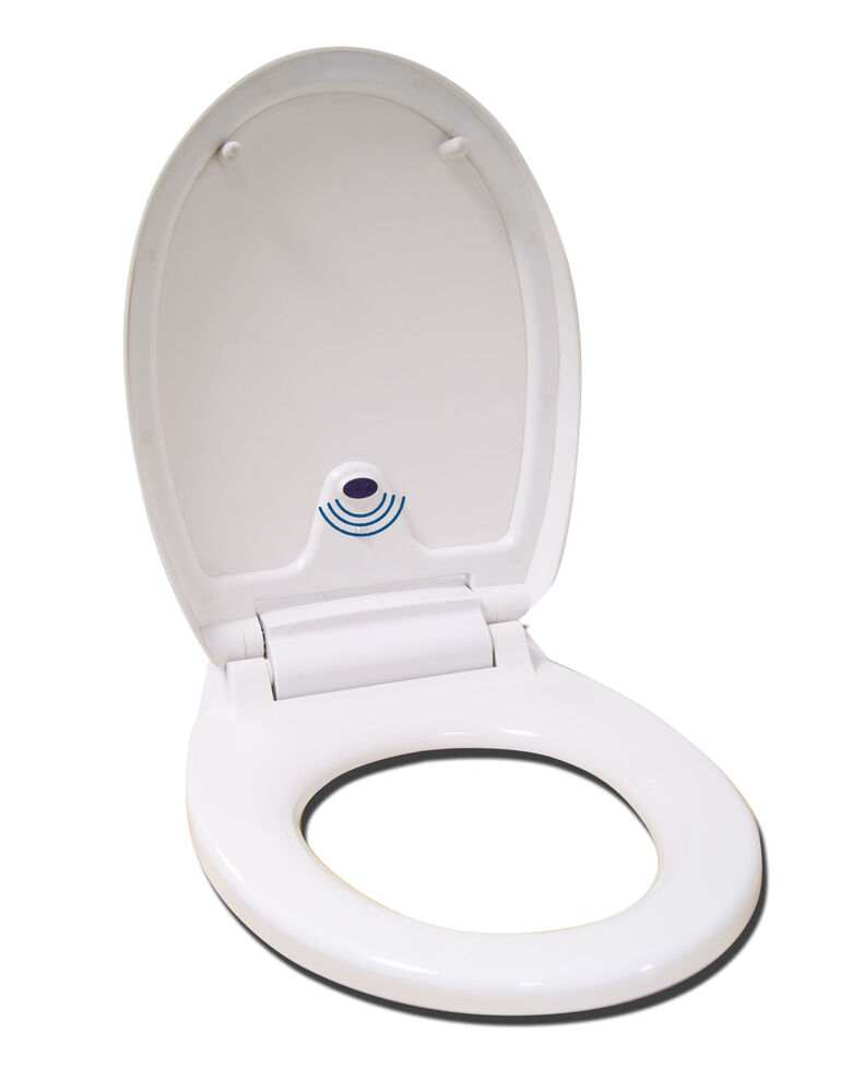 automatic toilet seat auto opening soft close white