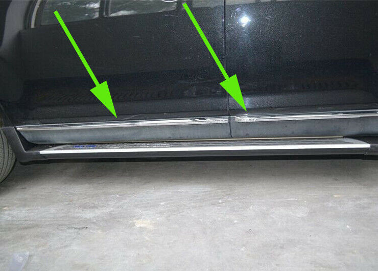 chrome body side molding cover trim for ford edge 2011 2012 2013 door sill ebay. Black Bedroom Furniture Sets. Home Design Ideas